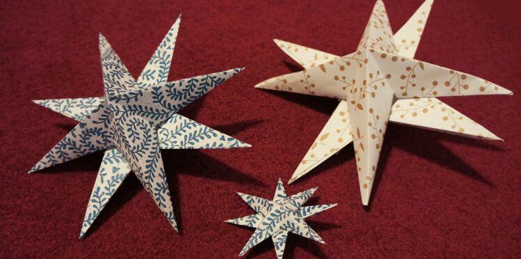 Vidéo : Je réalise une étoile en origami
