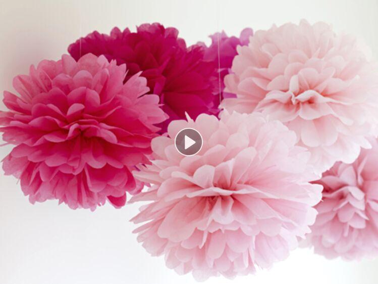 Facile Je Realise Des Fleurs En Papier De Soie Femme Actuelle Le Mag