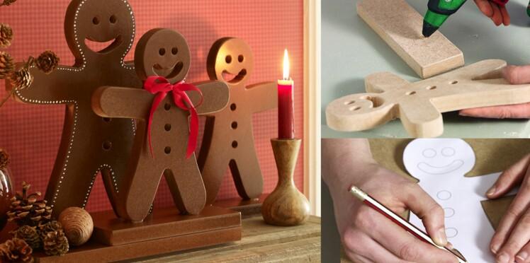 Déco de Noël : Bonhomme de pain d'épice en bois