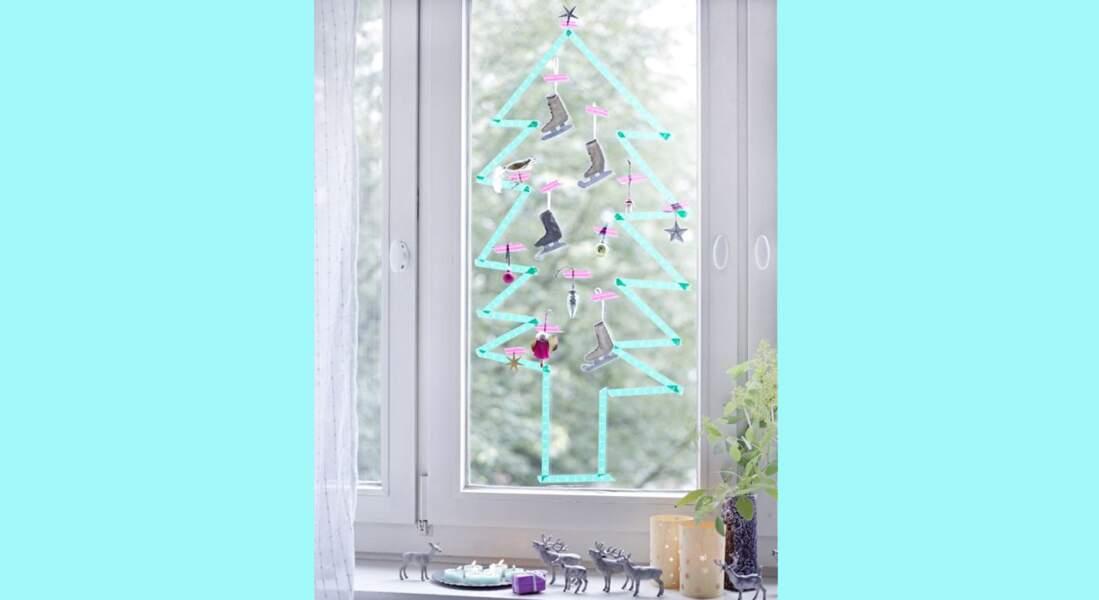 Je décore ma fenêtre avec... un sapin express