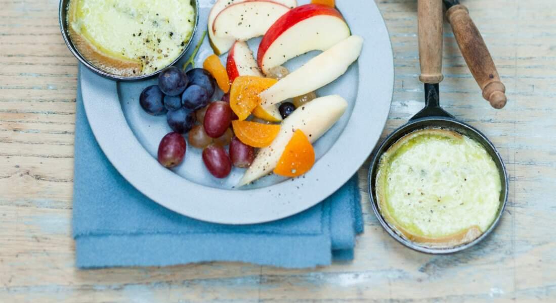 Raclette de morbier aux fruits