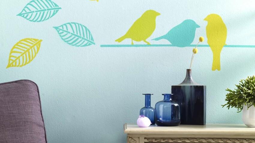 Des pochoirs d'oiseaux pour habiller mes murs
