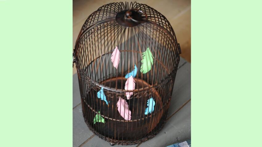 Je transforme une cage à oiseaux en objet déco