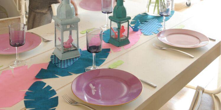 Je crée un chemin de table et de charmantes lanternes