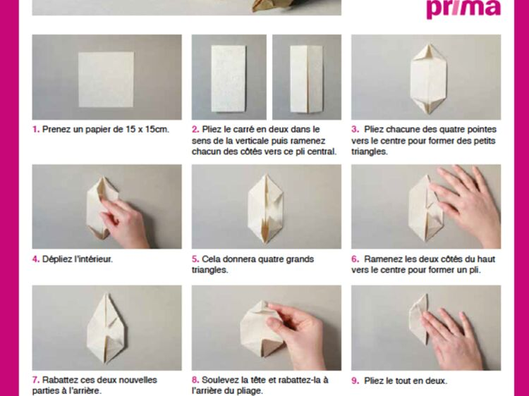 Un Lapin En Origami En étapes à Télécharger Femme Actuelle Le Mag