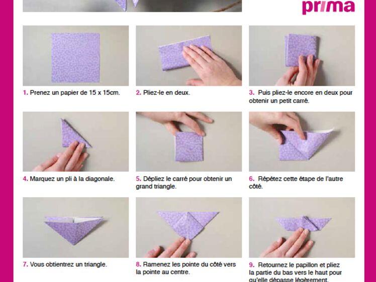 Un papillon en origami en étapes à télécharger : Femme Actuelle Le MAG