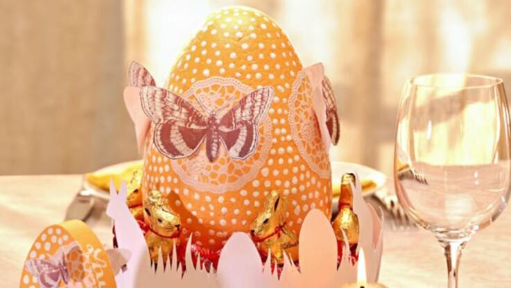Je réalise un centre de table pour Pâques