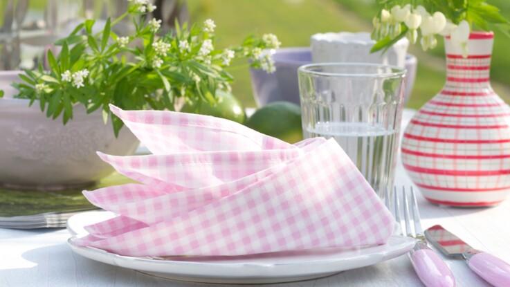 Pliage de serviette : fleur de paradis