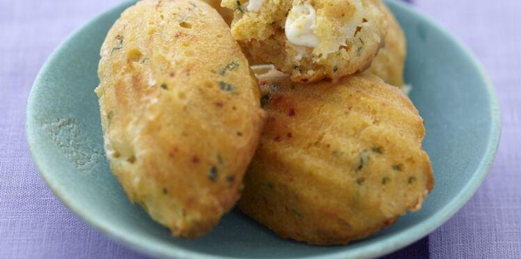 Spécial fromage : Petite madeleine au Caprice des Dieux et basilic