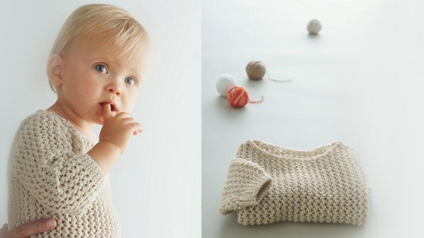 Un pull pour mon bébé à tricoter