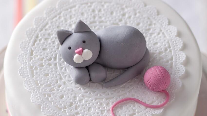 Vidéo : un chat en pâte à sucre