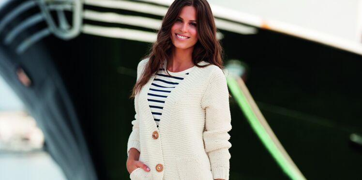 Un gilet esprit marin à tricoter