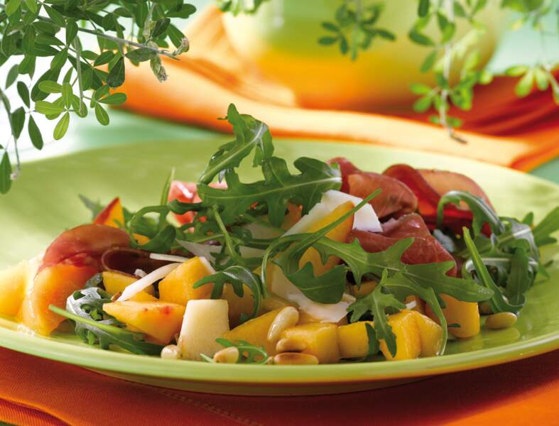 Salade italienne aux pêches