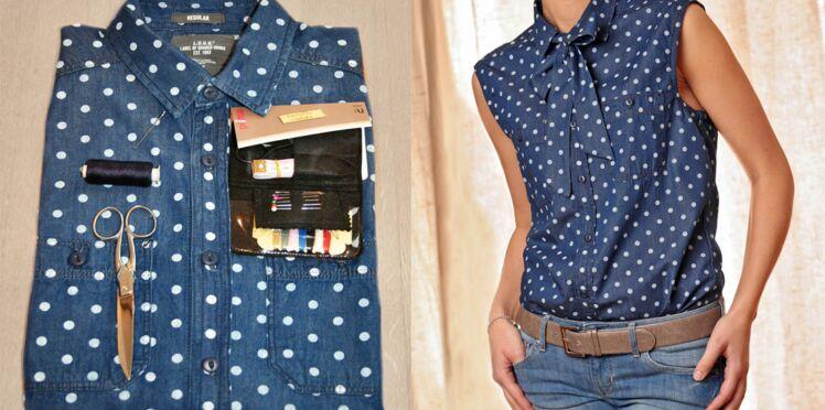 Custom mode: une chemise lavallière