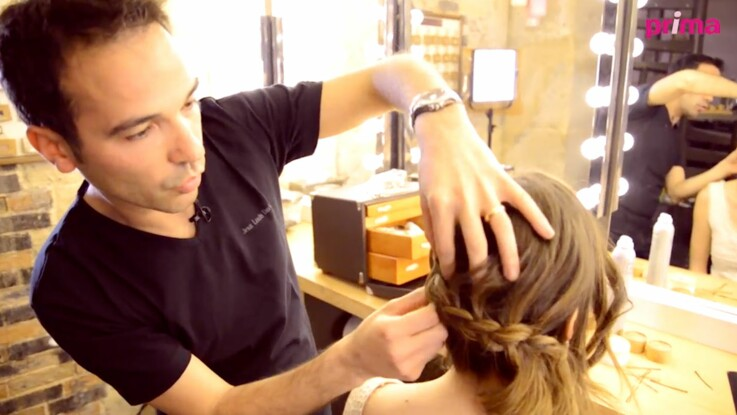 Vidéo : une coiffure de mariée romantique