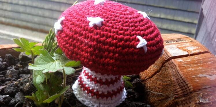 Un champignon au crochet