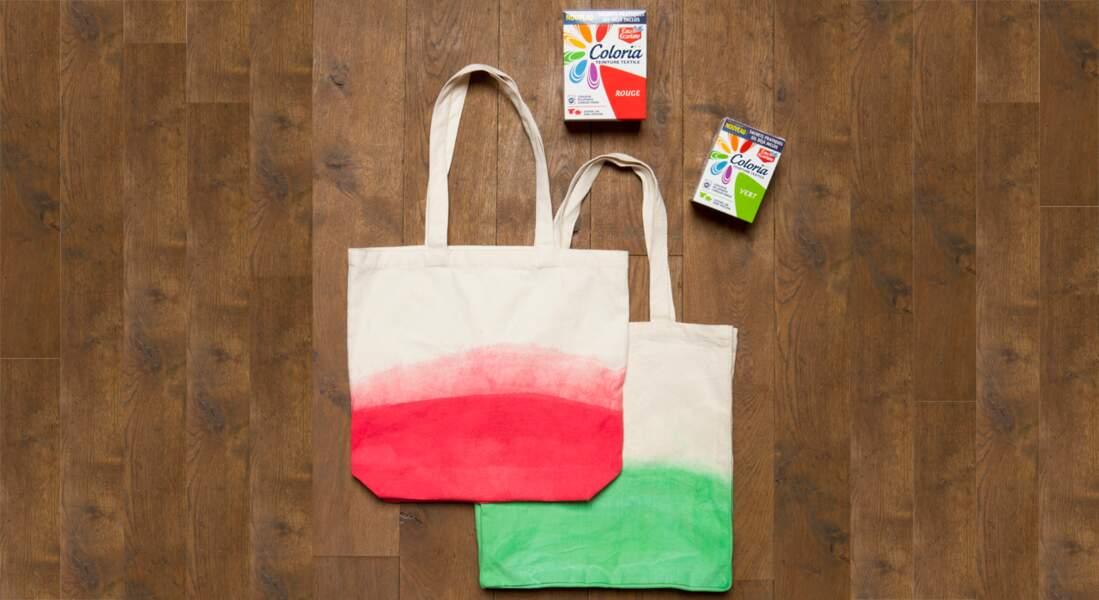 Un sac à goûter tie & dye