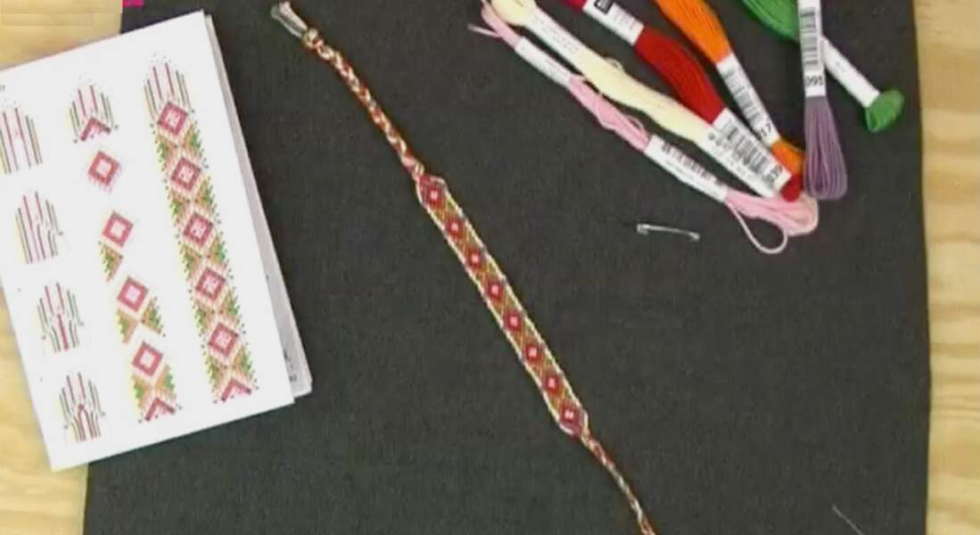 Nouveau motif, un bracelet brésilien losange