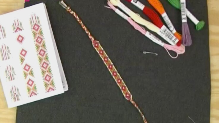 Un bracelet brésilien losange