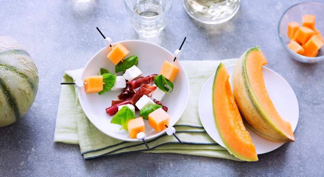 Bouchées apéritives au Melon