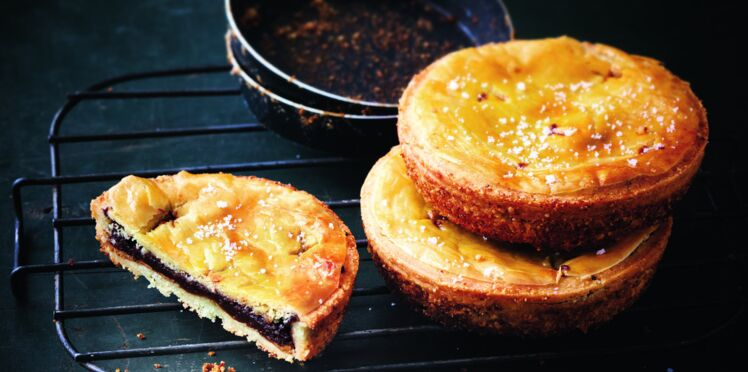 Pie au chocolat doux et à la pâte à tartiner