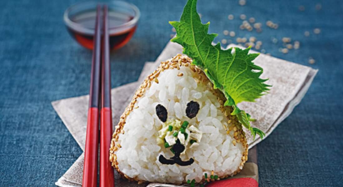 Onigiris tofu-sésame