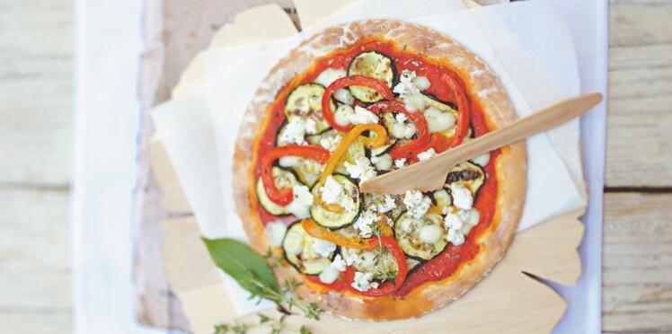 Pizza moelleuse aux légumes grillés
