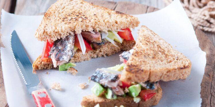 Club sandwich avocat & sardine