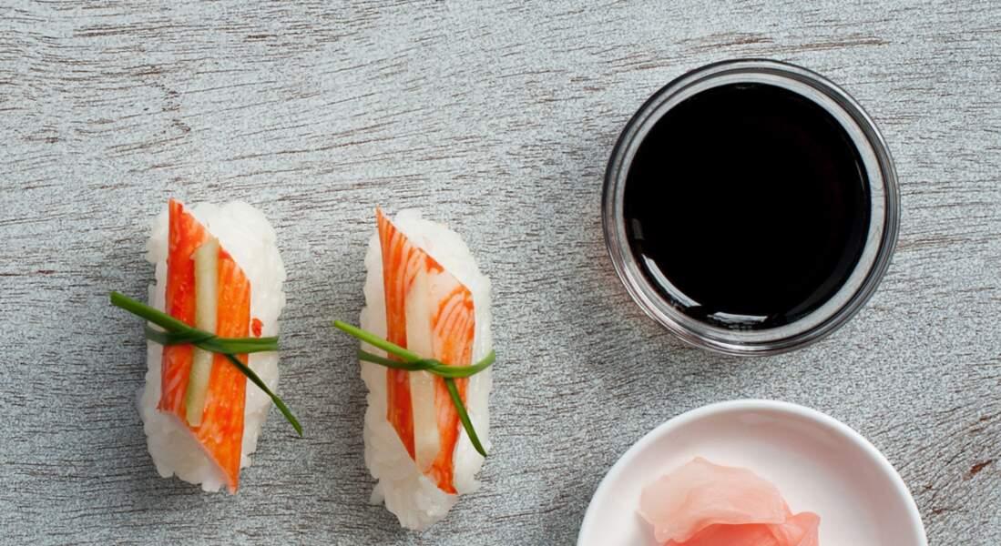 Sushi au surimi