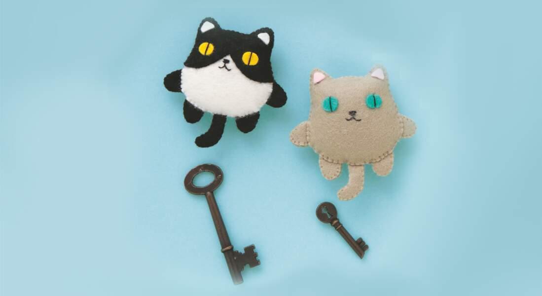 Mon porte-clés kawaii : le chat