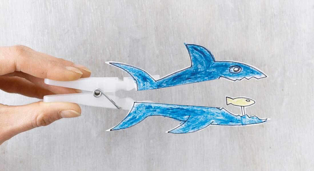 Fabriquer un requin en papier