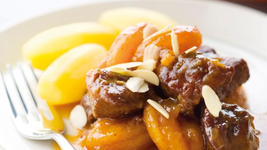 Cocotte de veau mijoté aux abricots