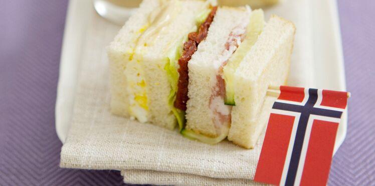 Club sandwich au jambon cru