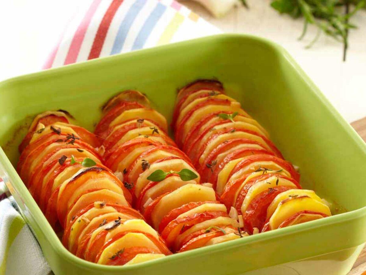 Recette Facile Du Tian Provencal tian pompadour et tomates : femme actuelle le mag