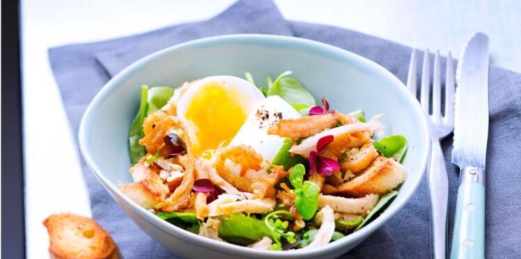Salade croquante au gras-double