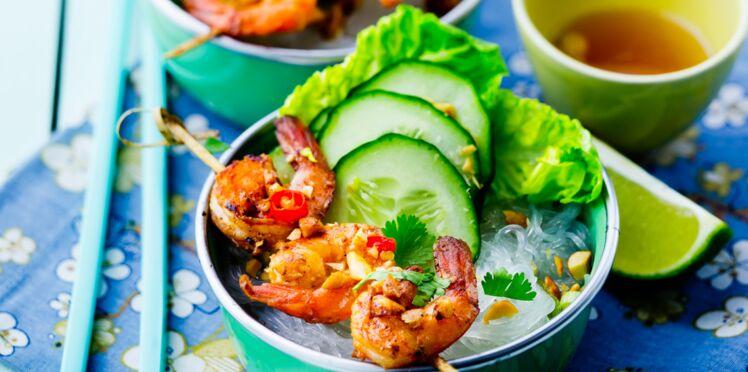 Crevettes sautées façon bo-bun
