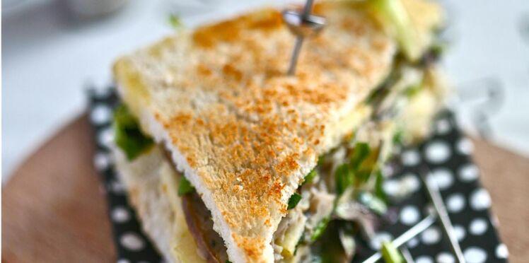 Club sandwich à l'andouille de Vire