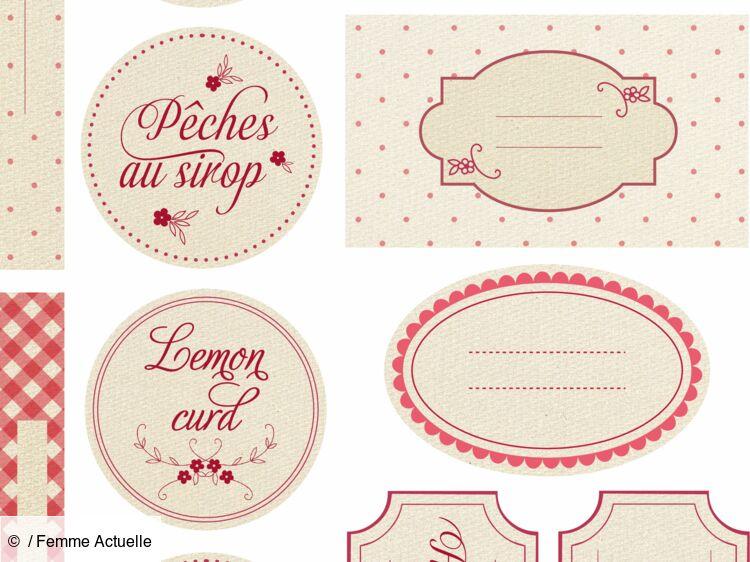 Telechargez Gratuitement Des Etiquettes Pour Vos Confitures Femme Actuelle Le Mag
