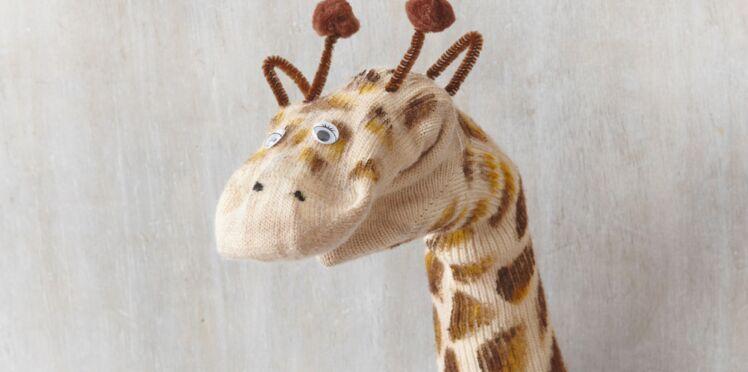 Je fabrique une marionnette girafe
