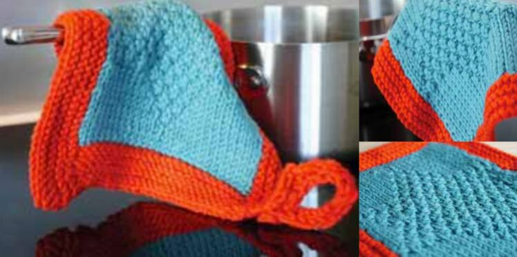 Une manique à tricoter