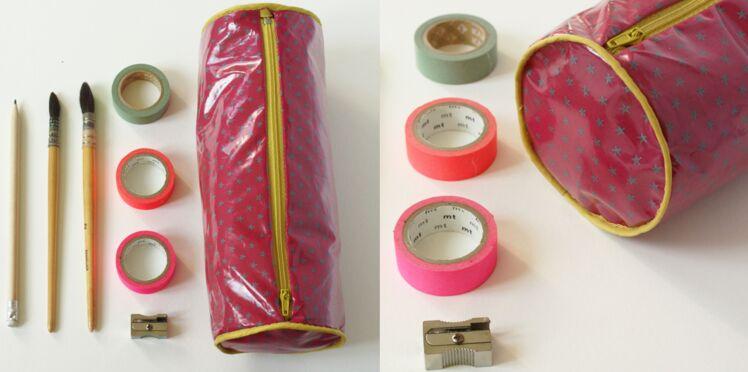 DIY : une trousse d'écolier tube