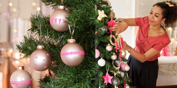 Je décore mes boules de Noël au masking-tape