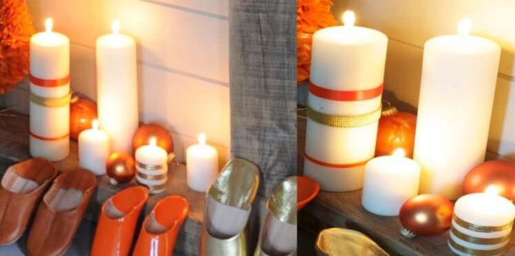 Des bougies rubans