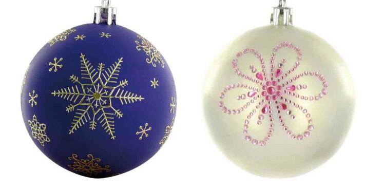 Des boules de Noël glitter