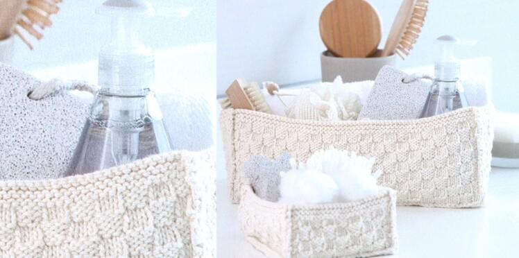 Des paniers cosy pour la salle de bain