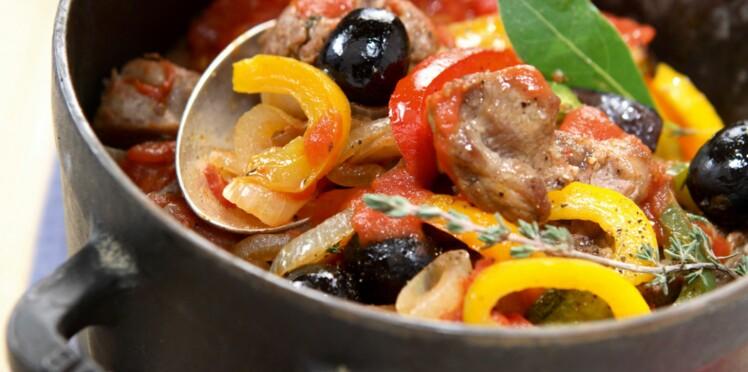 Cocotte de filet mignon aux olives