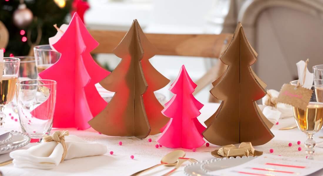 Table de Noël : les sapins de Coco Cerise