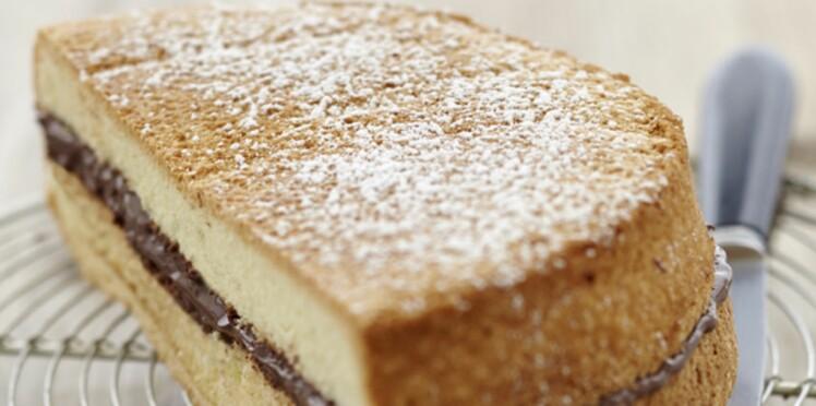 Biscuit de Savoie au Nutella