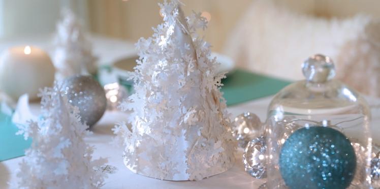 Un sapin en papier pour Noël