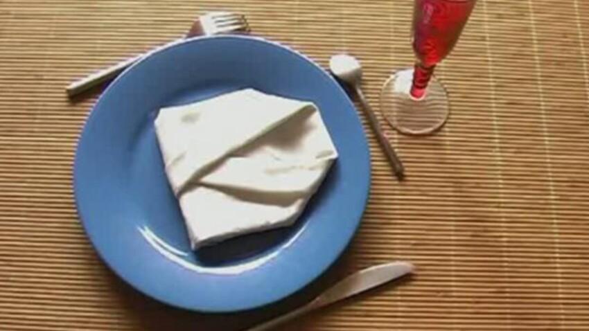 Pliage de serviette : la chemise